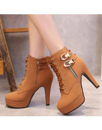 Ankle Boot Marrom Naliane