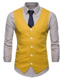 Colete Masculino Amarelo Slim Fit Galway