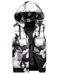 Colete Masculino Cinza Camouflag Dupla Face