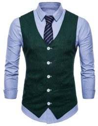 Colete Masculino Verde Escuro Slim Fit Galway