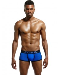 Cueca Boxer Azul Jockmail New Fit