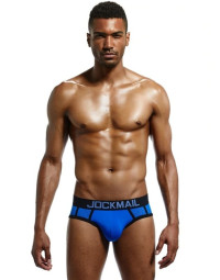 Cueca Brief Azul Jockmail Cotton