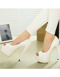 Peep Toe Love Myun Branco shopping city
