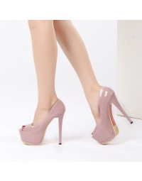 Peep Toe Love Myun Pink shopping city