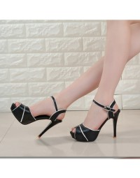 Peep Toe MoBeiNi Preto shopping city