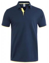 Polo Masculina Azul Marinho Yellon The Flex