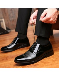 Sapato Social Masculino Break Out Preto Oxford