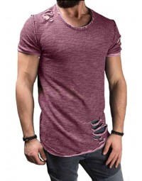 T-shirt Masculina Destroyed Vinho
