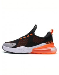Tênis Masculino Preto Orange Air 270 Run Breathable