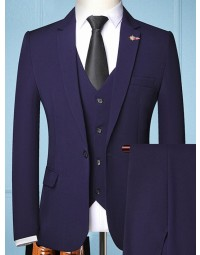 Terno Masculino Azul Slim Fit Newcastle