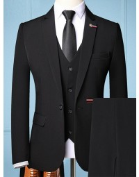 Terno Masculino Preto Slim Fit Newcastle