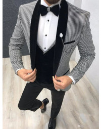 Terno Masculino Slim Fit Houndstooth