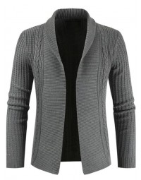 Cardigan Masculino Cinza Slim Fit
