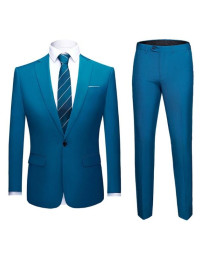 Terno Masculino Azul Lake Slim Fit Dominic