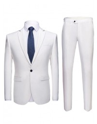 Terno Masculino Branco Slim Fit Dominic