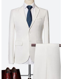 Terno Masculino Branco Slim Fit Tommy II